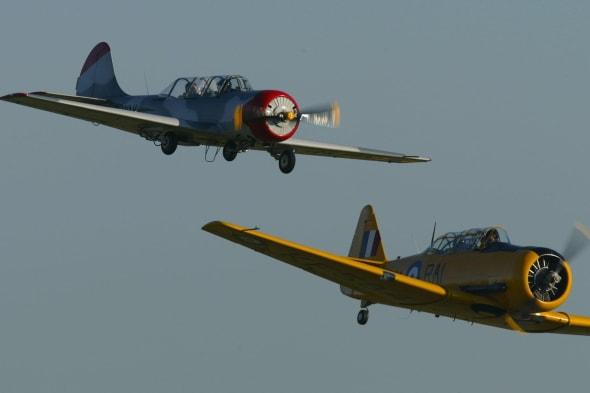 Russian Yak 52 and an American Harvard
