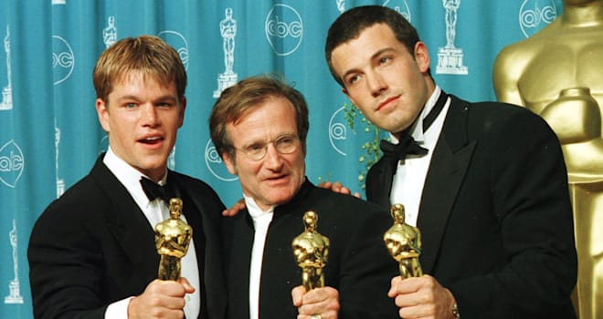 Actors-writers Matt Damon (L) and Ben Affleck (R)