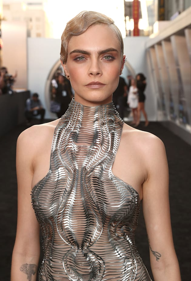 Cara Delevingne attends the premiere of EuropaCorp And STX Entertainment's 'Valerian And The City Of...