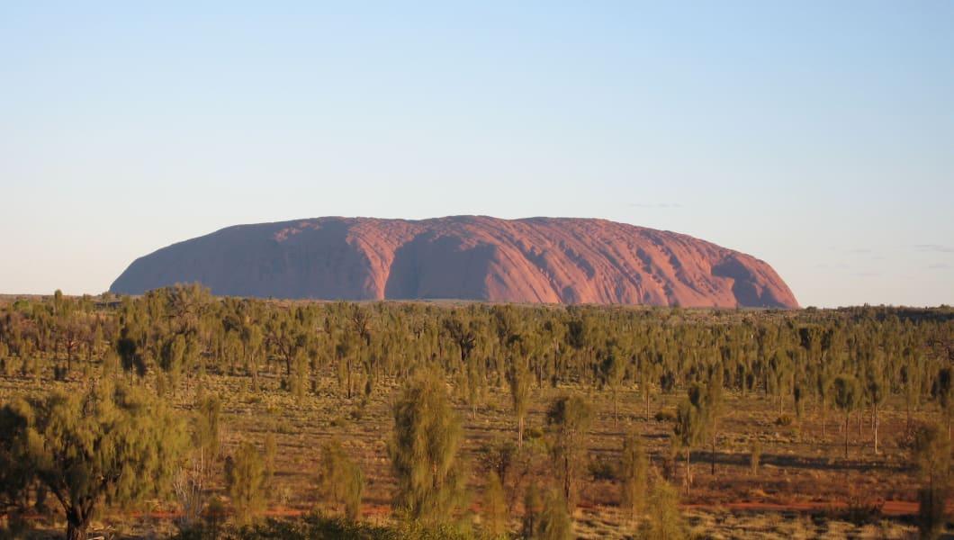 Daytime view of Uluru