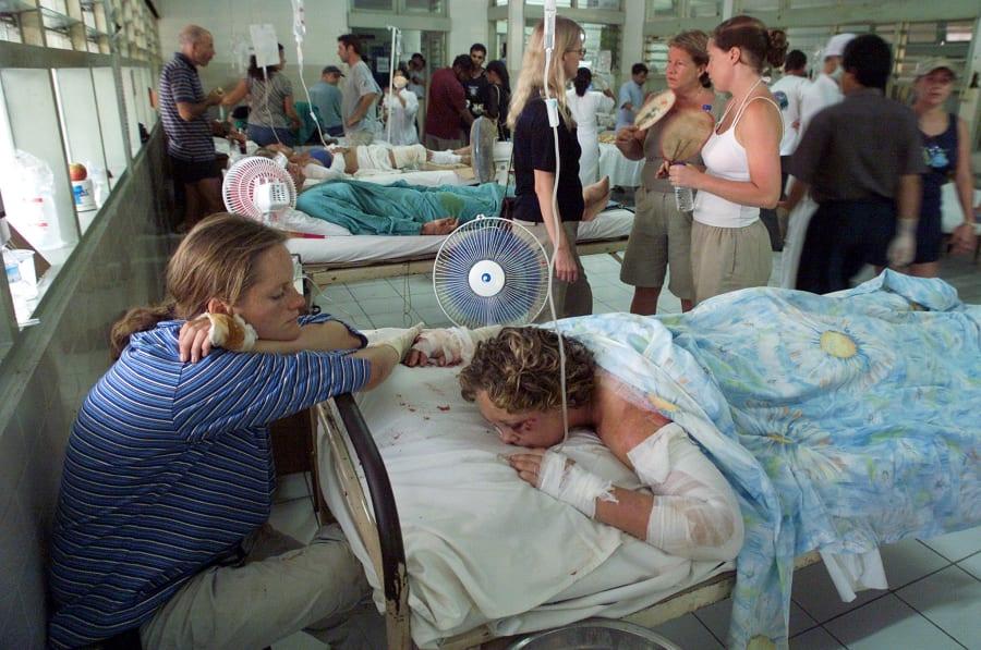 Wards were fill at Denpasar Hospital still on October 13,