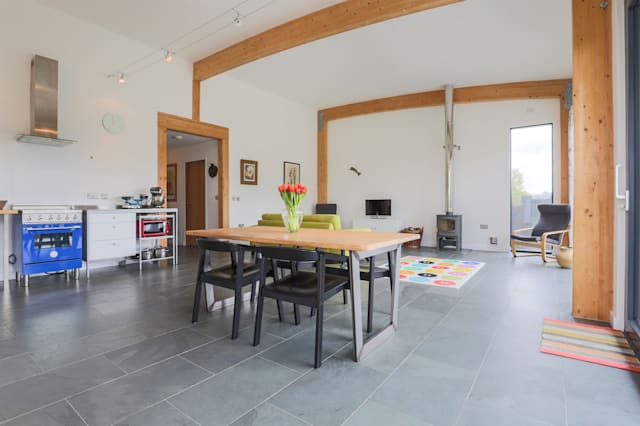 The living space of the stylish Shipdham bungalow