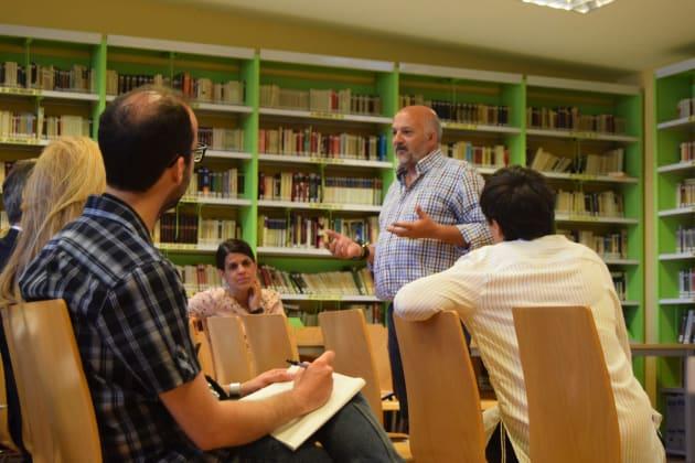 Ángel Serrano, el director del colegio Padre Piquer, durante la presentación de su