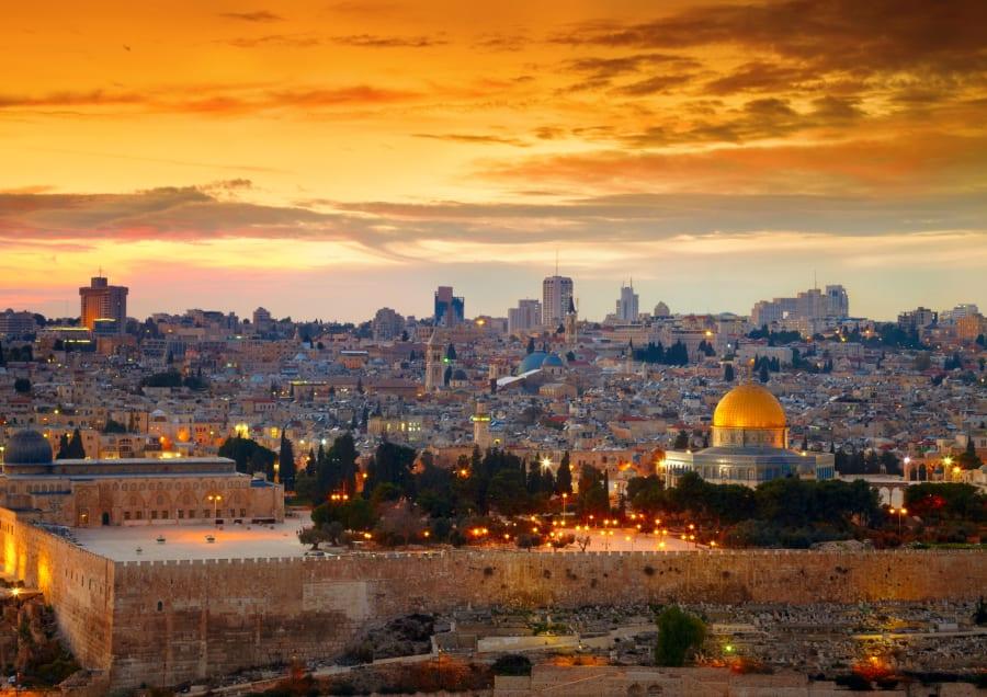 View to Jerusalem old