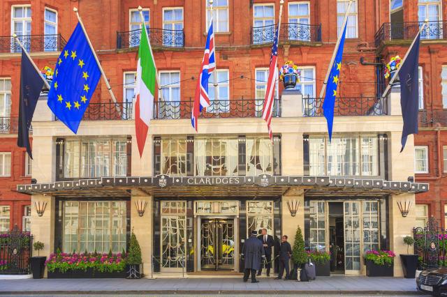 Claridge's Hotel in Mayfair.