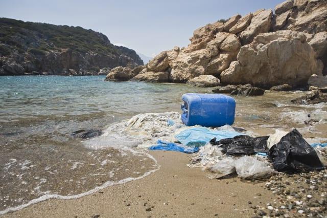 stranded plastic waste