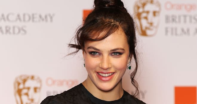 Jessica Brown Findlay at the 2012 Orange British Academy Film Awards