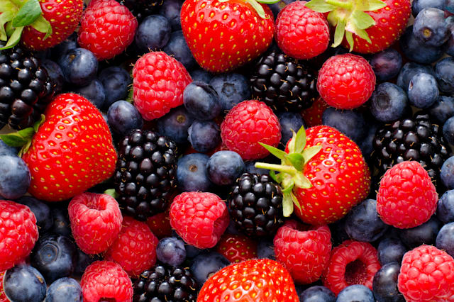 Wild berry mix - strawberries, blueberries, blackberries and raspberries