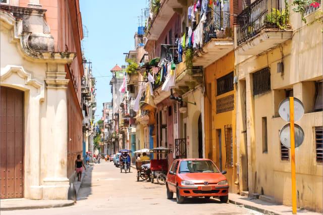 Havana (Cuba). Colorful street of Old Havana.