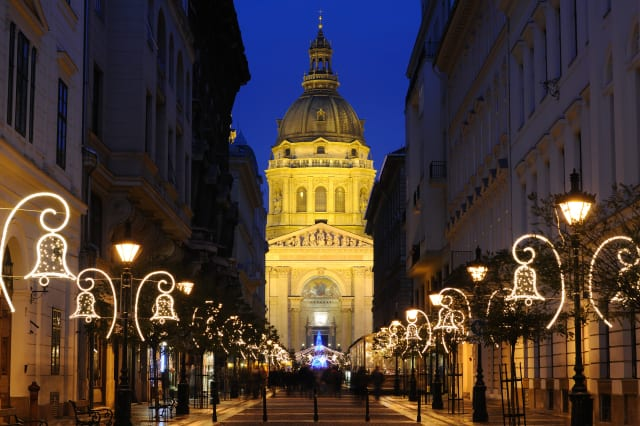 Holiday time at St Stephen's Basilica in Budapest