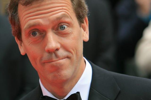 British actor Hugh Lawrie arrives at the