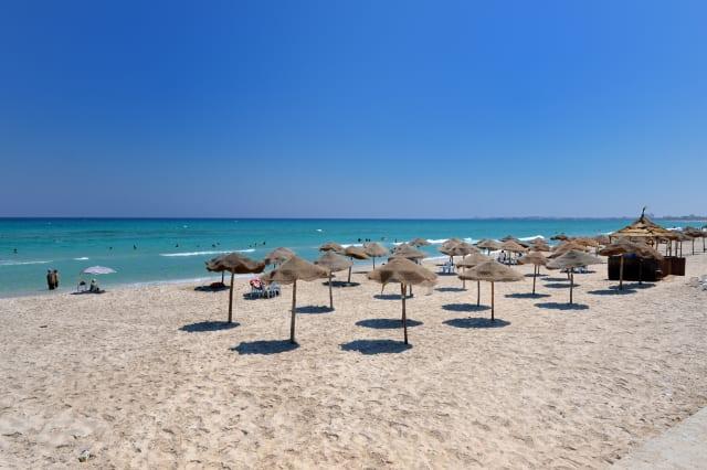beautiful beach resort Tunisians