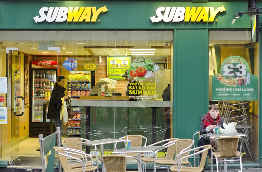 EDINBURGH - SEPTEMBER 22: A Subway fast food outlet on September 22, 2012 in Edinburgh, Scotland. Subway is the world's largest