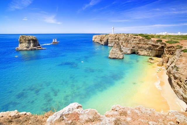 Portugal, Faro, Lagoa, Algarve, Praia dos Caneiros