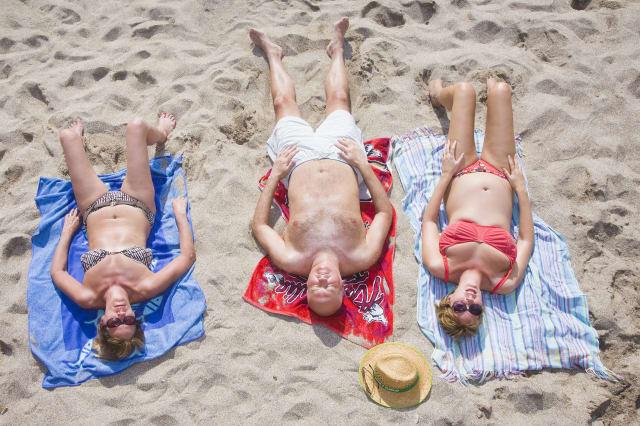 Sunbathers in Spain