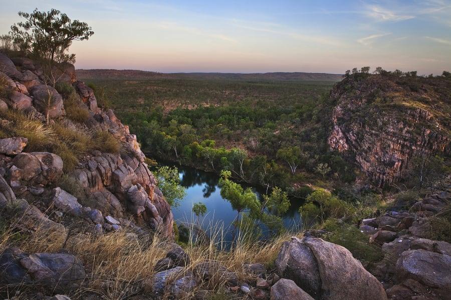 A wilderness area retains its original