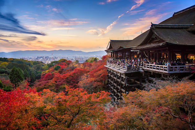 The Kiyomizu-dera temple is one of Japan's most