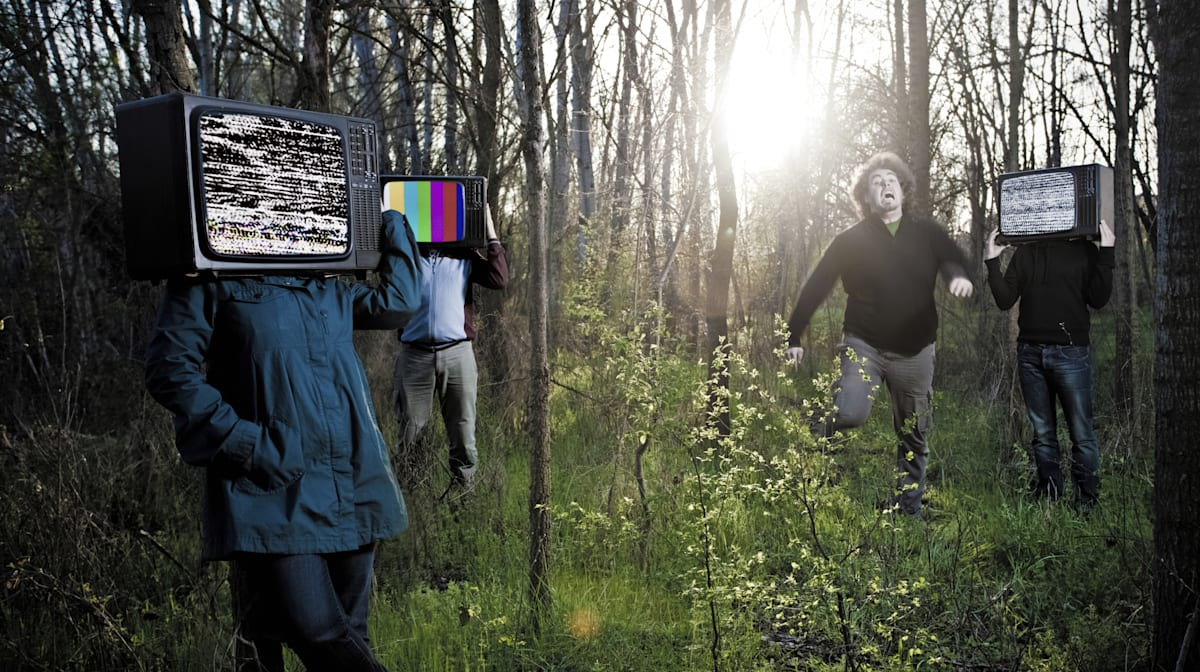 Chased by televisions
