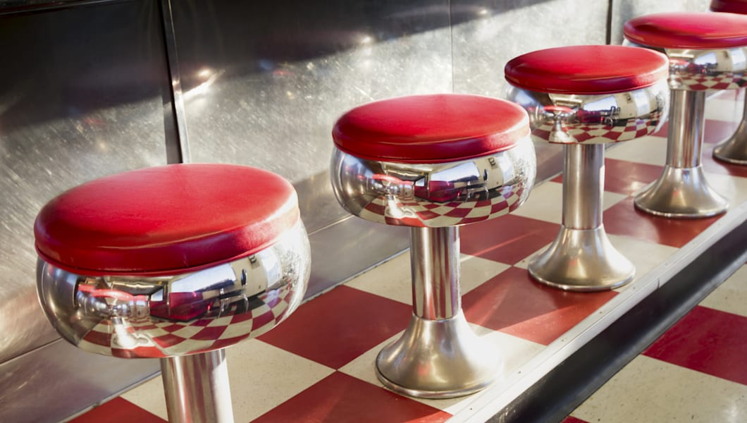 Warm Morning Sunlight Highlights These Beautifully Classic Diner Seats