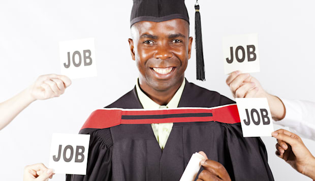 african graduate with job offers