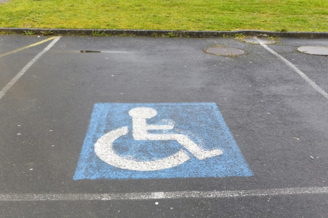 Disabled, handicapped or accessible parking places
