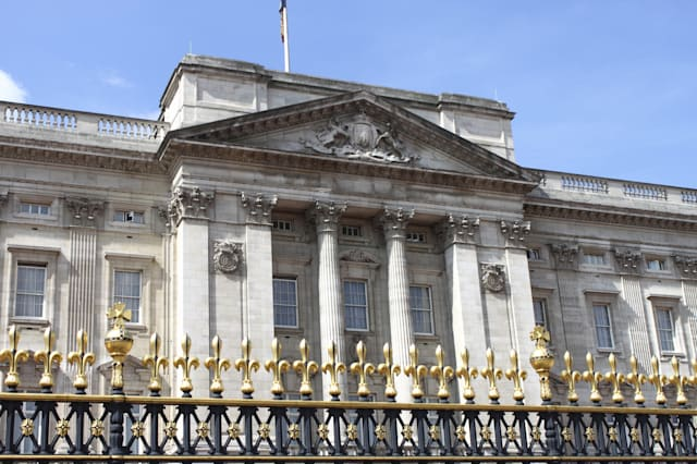 Facade of Buckingham Palace in London, UK