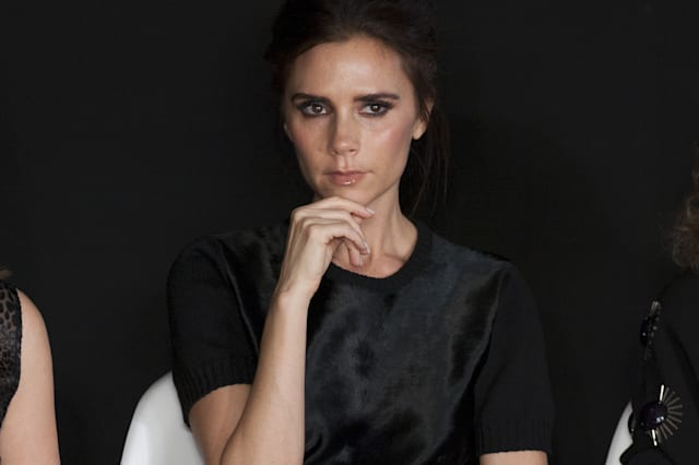 Victoria Beckham on the judges panel at the International Woolmart Awards, ME Hotel, Aldwych, London. 16/02/2013 Picture by: Sim