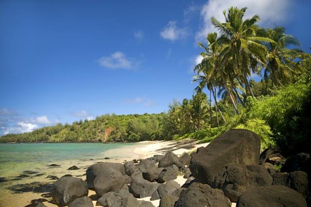 Hawaii, Kauai, Picture of Pila'a beach.