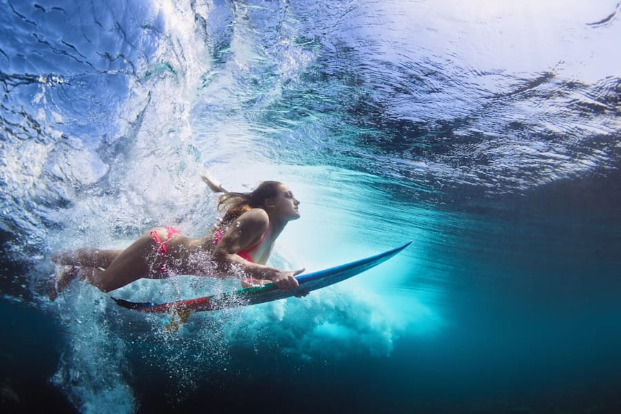 Activities like surfing and stand up paddle boarding are so fun they don't feel like