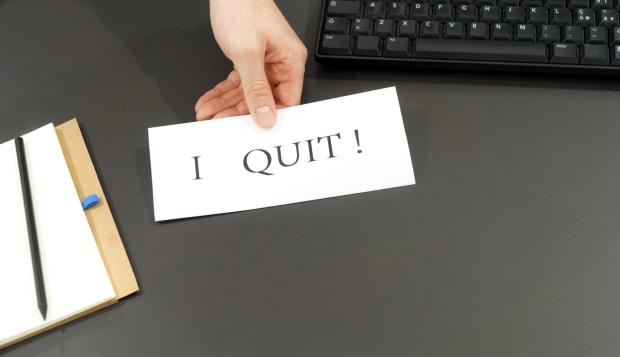 I QUIT! Employee quitting work