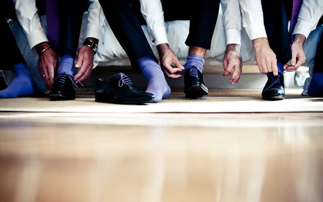 Wedding, best men and shoes