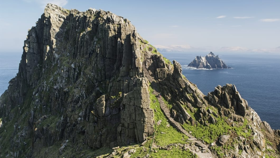 View of Little Skellig from Skellig Michael