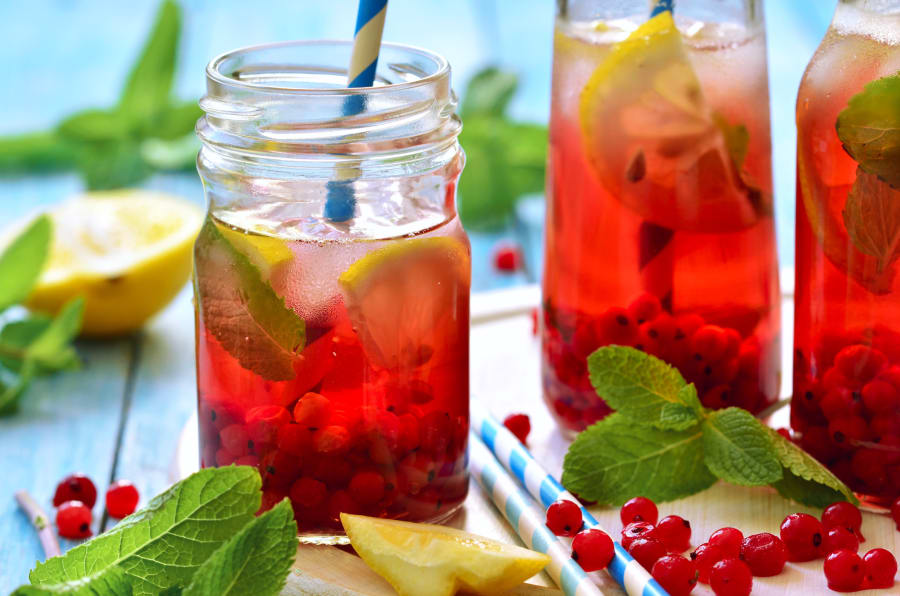 Try infusing water water with berries, lemon, ice and