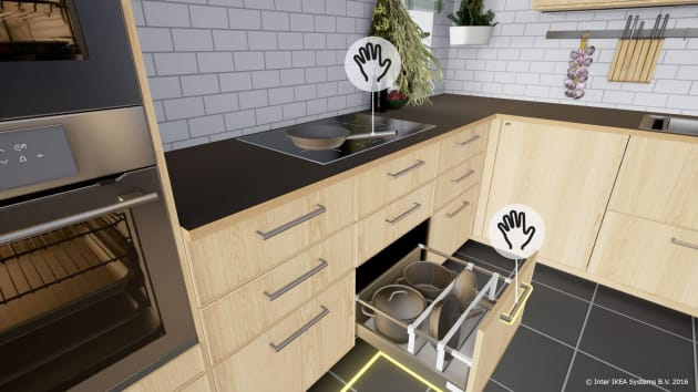 Ikea made a kitchen showroom in vr - App to change color of kitchen cabinets ...