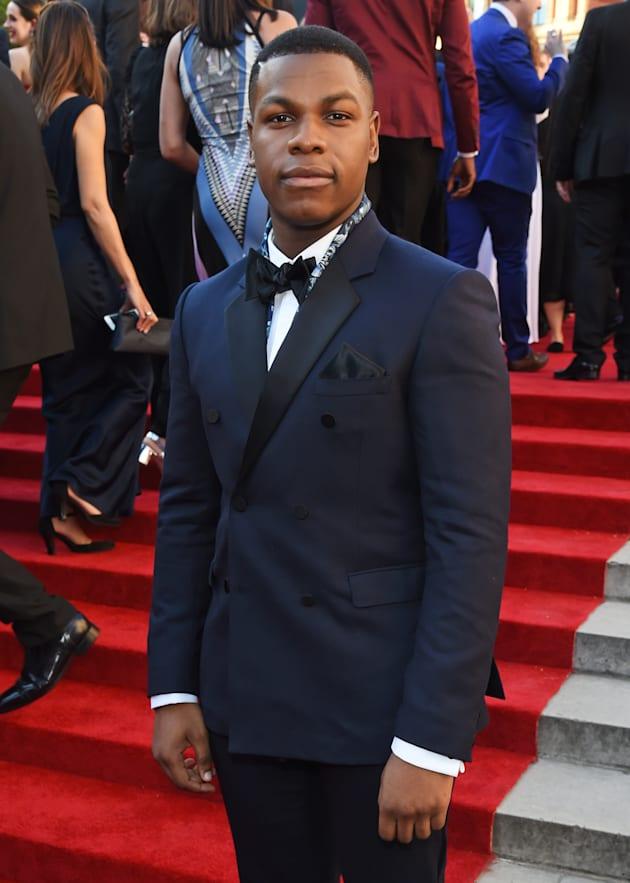 John Boyega attends The Olivier Awards 2017 at Royal Albert Hall on April 9, 2017 in London, England....