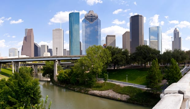 Houston Skyline - Buffalo Bayou Bridge