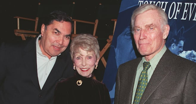 Schön Valentin De Vargas, Janet Leigh, And Charlton Heston