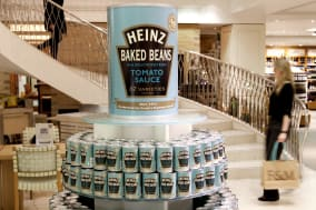 Limited edition Heinz Beanz label cans