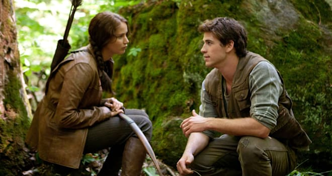 THE HUNGER GAMES 2011 Lionsgate film with Jennifer Lawrence and Liam Hemsworth