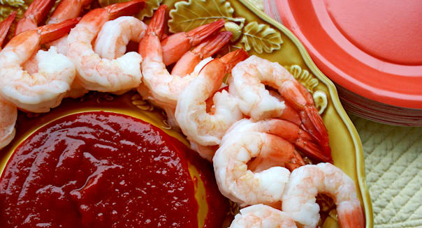 Shrimp cocktail with sauce