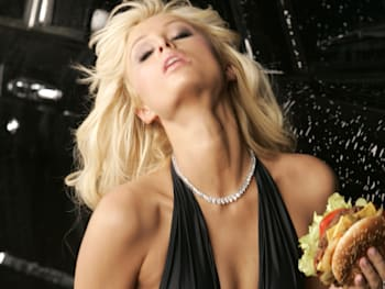 Paris Hilton Films Carl's Jr.'s New Ad for the Spicy BBQ Six Dollar Burger