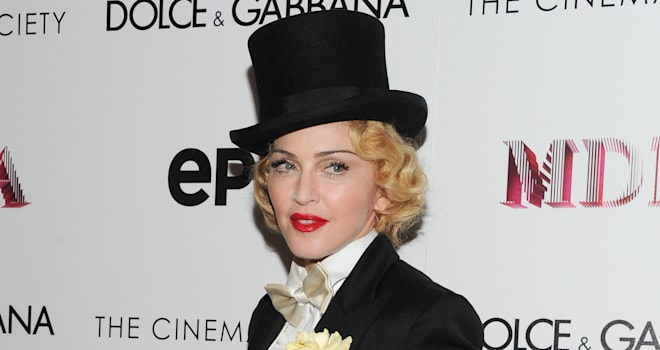 World Premiere Of Madonna: The MDNA Tour (Singer Madonna attends the world premiere of