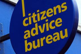 a sign above a Citizens Advice Bureau