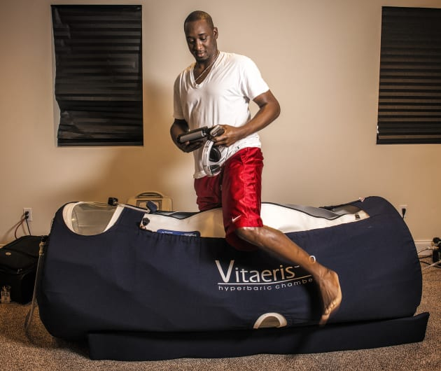 Sportspeople (like Nationals pitcher Rafael Soriano) often use hyperbaric chambers to prevent and deal...