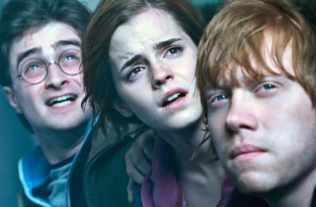 HARRY POTTER AND THE DEATHLY HALLOWS: PART 1  - 2010 Warner Bros film From l: Daniel Radcliffe, Emma Watson and Rupert Grint