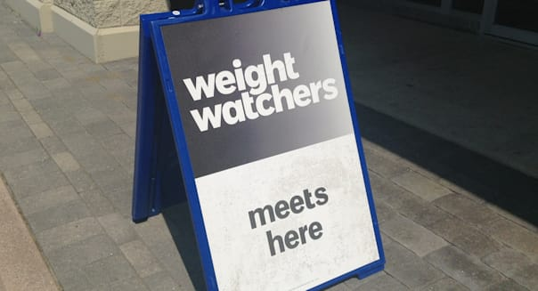 Weight Watchers Store Office Sign Logo, 6/2014 Waterbury CT Pics by Mike Mozart of TheToyChannel and JeepersMedia on YouTube. #W