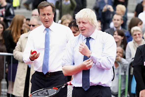 A game of tennis with the Prime Minister and Mayor of London has been auctioned by the Tory Party for a reported £160,000 to the wife of a former Russian government minister.
