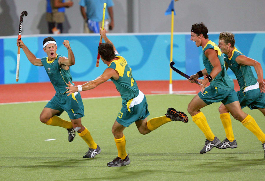 This unbelievable golden moment from Athens 2004 was brought to you by the fact that HOCKEY PLAYERS REALLY...