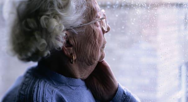 |caucasian|center|color|elderly|gray|health and medicine 2|horizontal|interior|keith brofsky|lifestyle|loneliness|looking|nursin