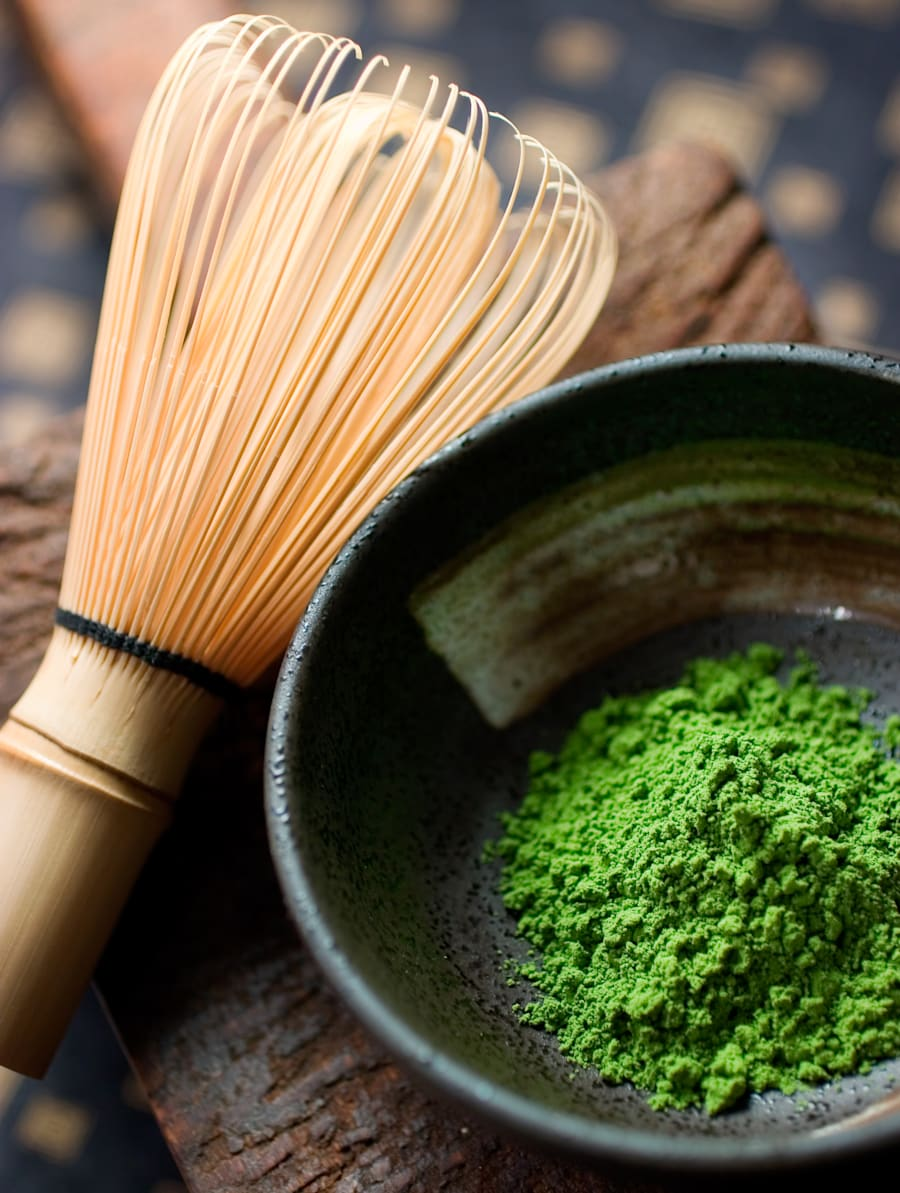 Bamboo utensils are used in the traditional ceremony to make matcha